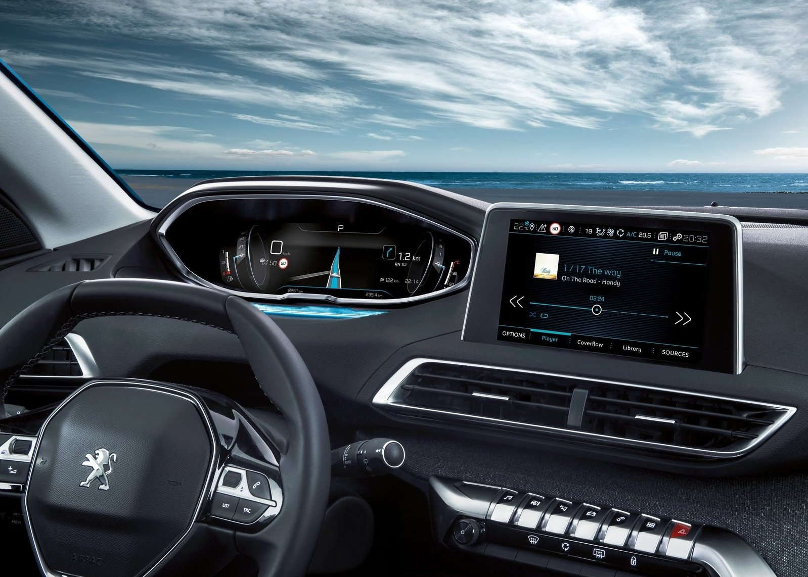 2017 Peugeot 5008 dashboard new features