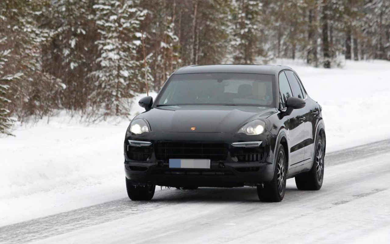 2018 Porsche Cayenne Coupe spy photos