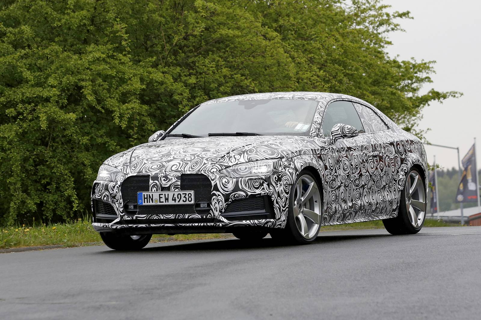 2018 Audi RS5 spy shots