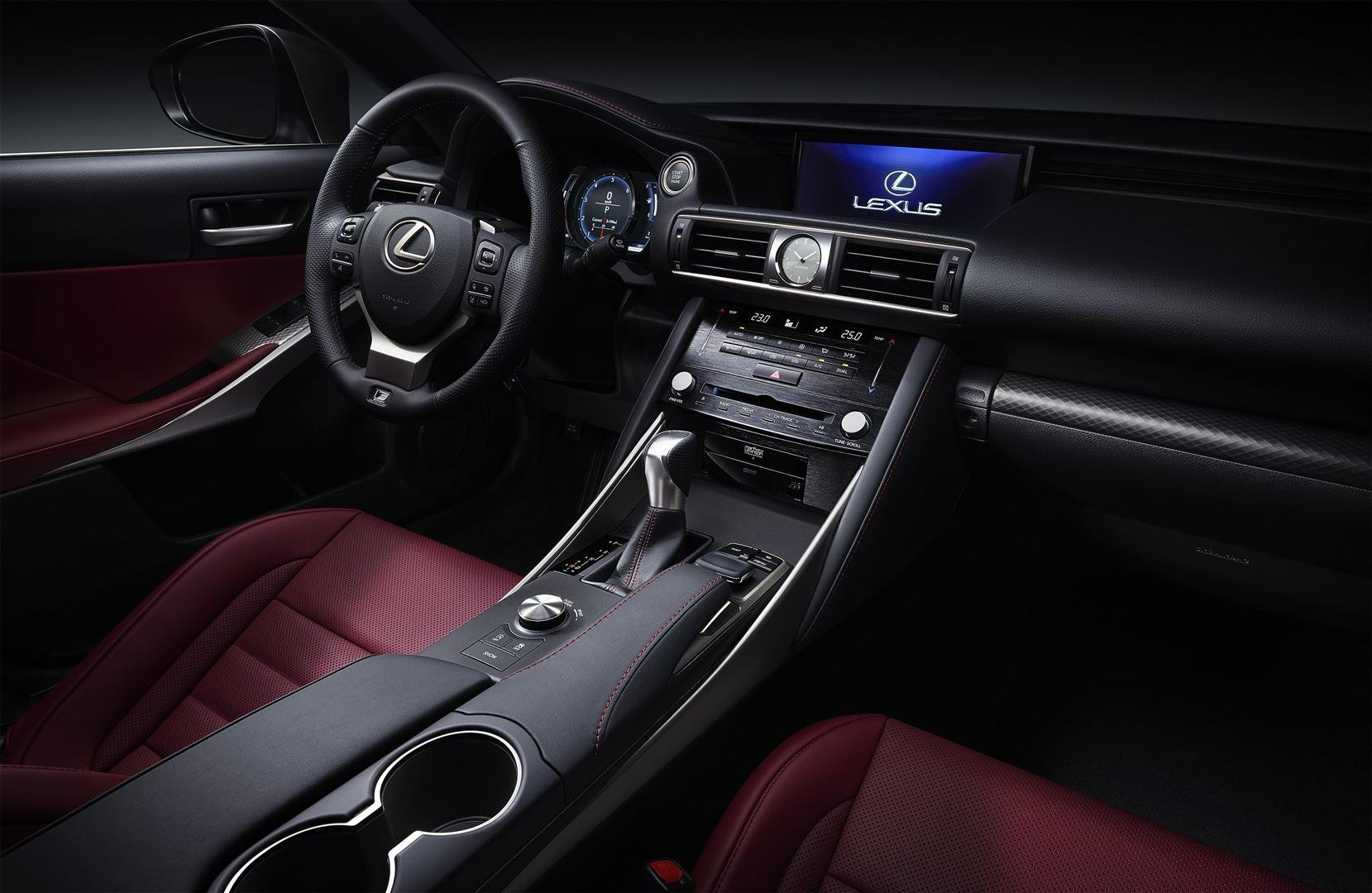 2018 lexus IS 300h f sport interior