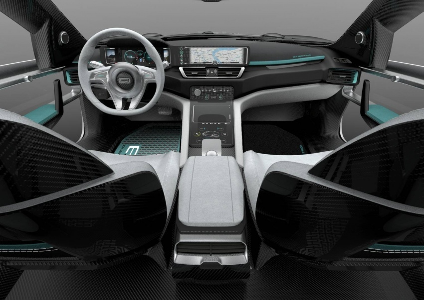 2019 Qoros Model K-EV SUV Interior