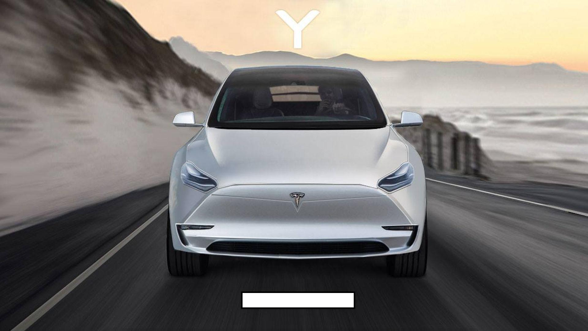 2019 Tesla Model Y SUV Rendering