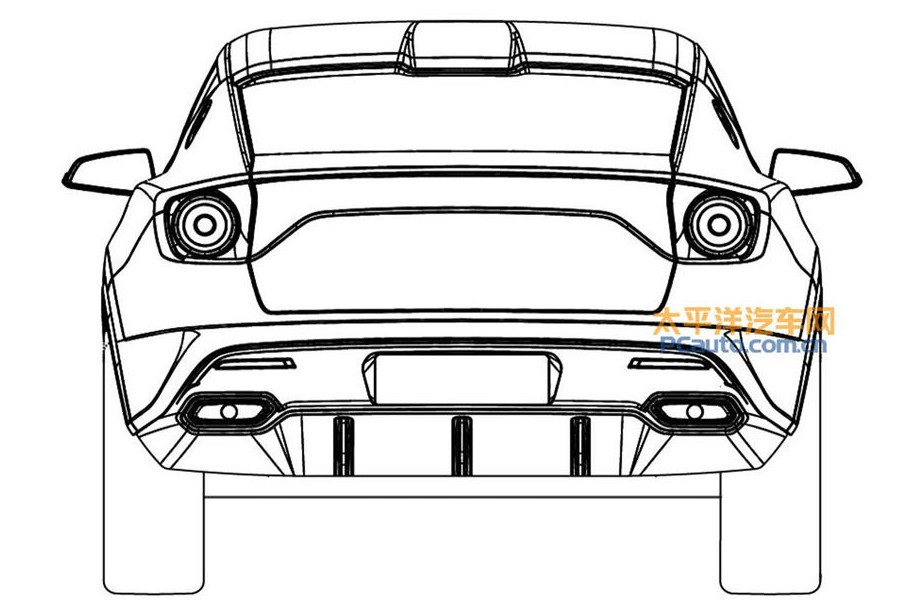 New Lotus SUV Sketches Rear Angle Pictures