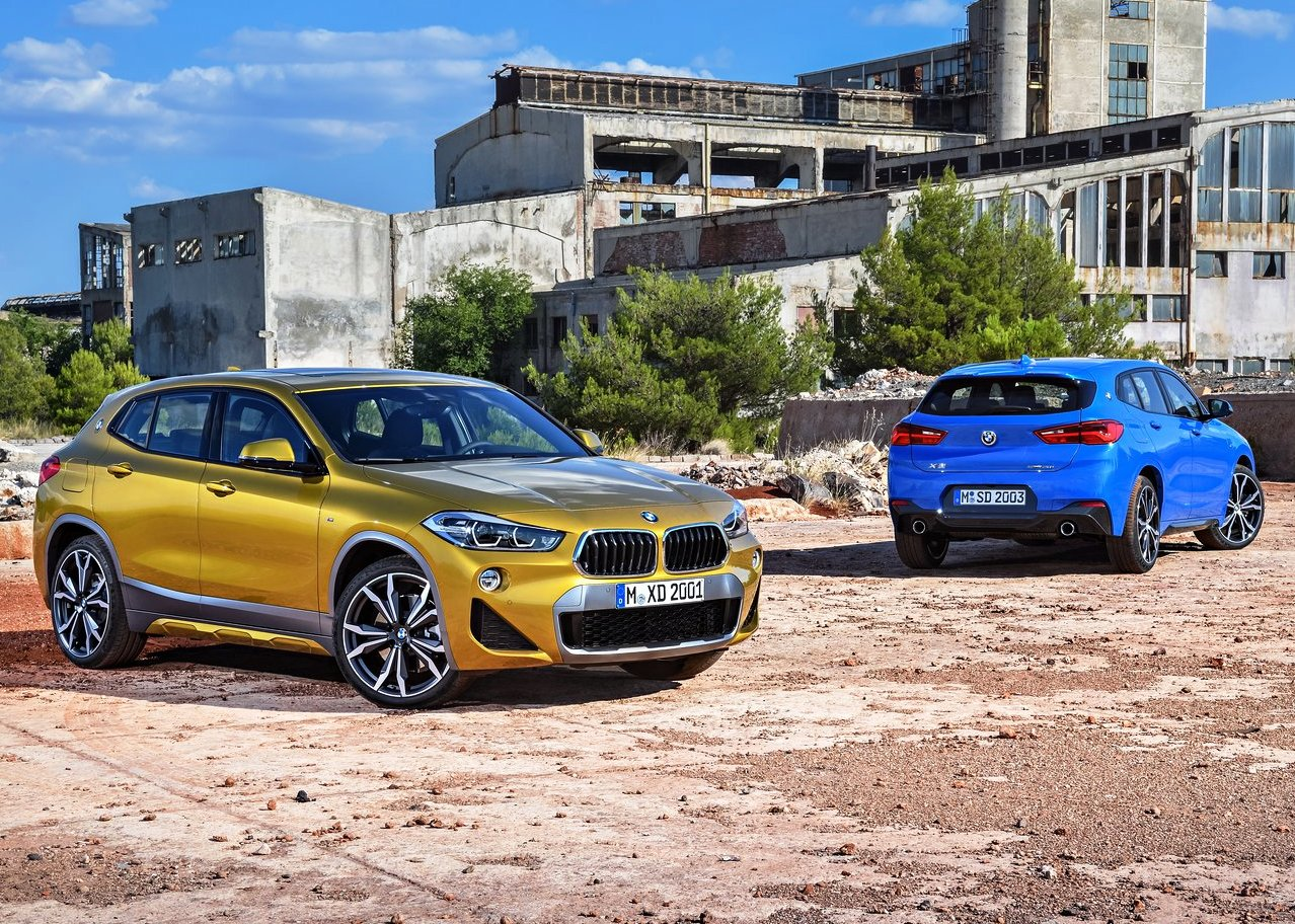 2019 BMW X2 SUV Exterior Color Trims; Golden Yellow and Blue