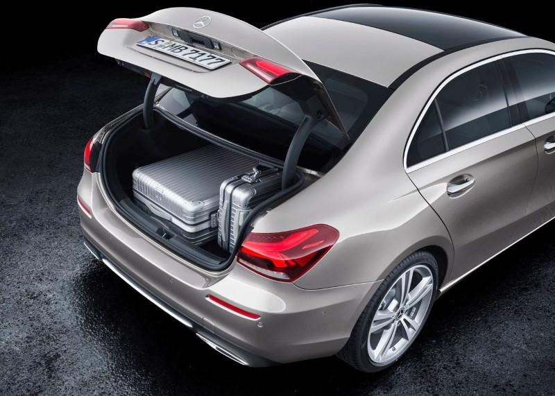 2020 Mercedes A-Class Sedan Trunk Capacity