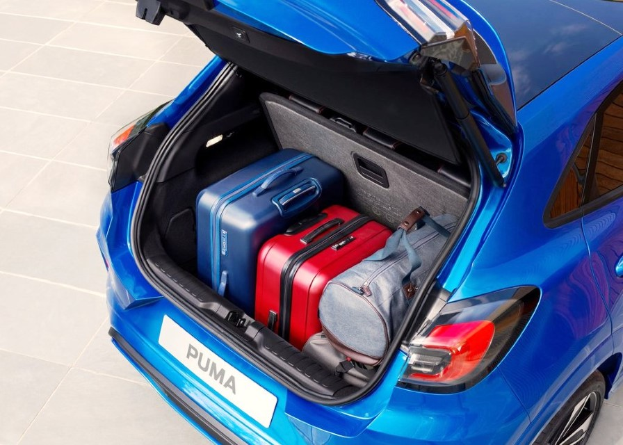 2022 Ford Puma Hybrid Trunk Capacity